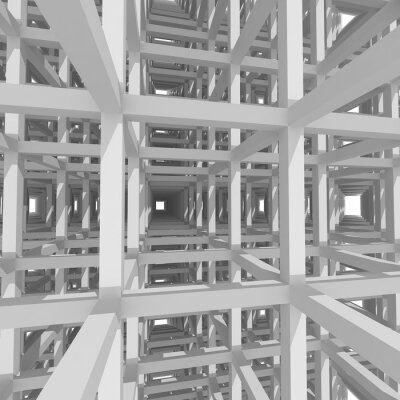 Cuadro 3d columns and beams ,architecture background.
