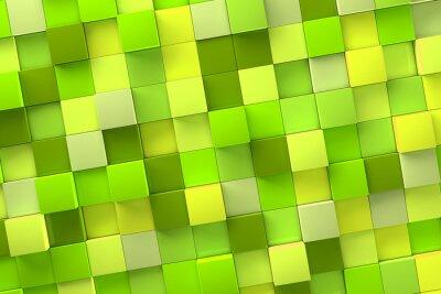 Cuadro 3d Cubo de fondo