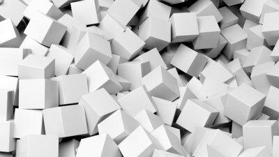Cuadro 3d cubos de color blanco resumen de antecedentes