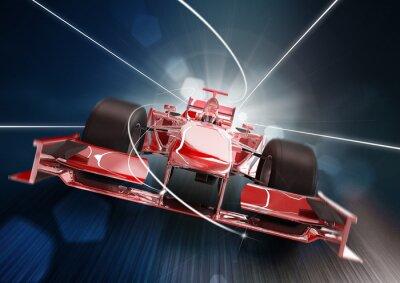 Cuadro 3d, formula un concepto de coche