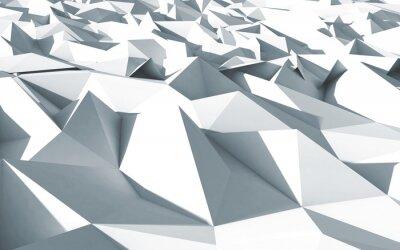 Cuadro 3d polygone novio cristaux fond blanc textura