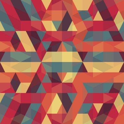 Cuadro abstracto retro patrón geométrico
