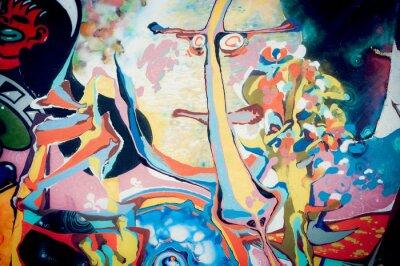 Cuadro abstraite peinture Fond
