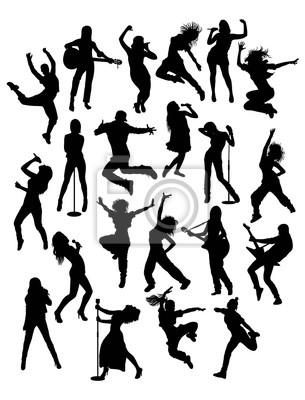 Actividad personas, cantante, guitarrista hip hop y bailarín ...