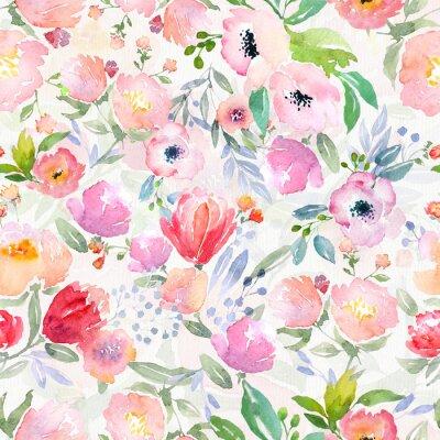 Cuadro Acuarela patrón floral