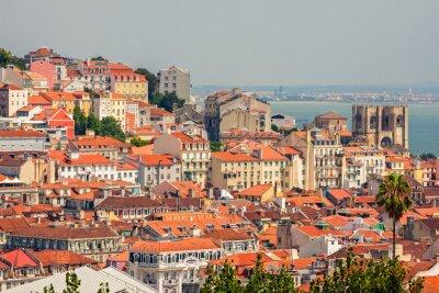 Cuadro Aerial view of Lisbon, Portugal