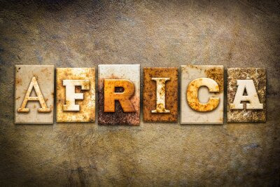 Cuadro África Concepto Letterpress Cuero Temática