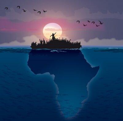 Cuadro Afrique - Emigración