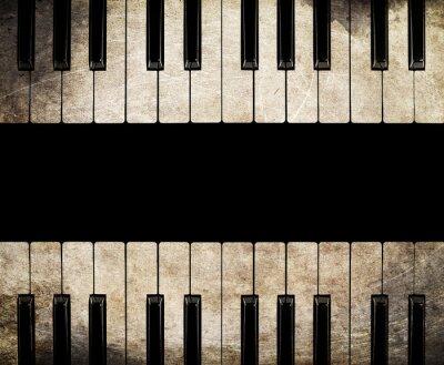 Cuadro aislado de piano de la vendimia