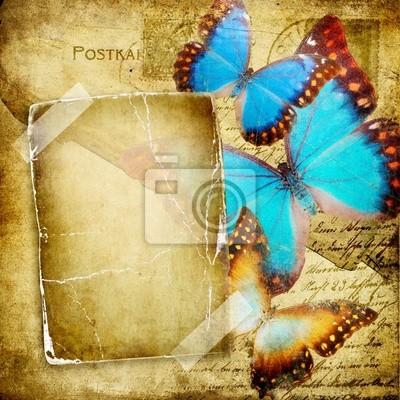 álbum de fotos de época con las mariposas