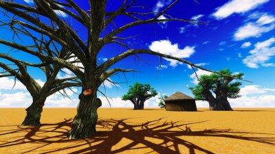 Cuadro Aldea africana
