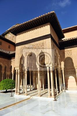 Alhambra De Granada Patio De Los Leones Andalucia Espana Pinturas