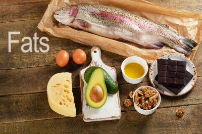 Cuadro Alimentos altos en grasa que son saludables