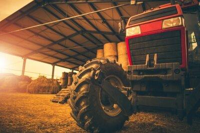 Cuadro Almacenaje de Heno y el Tractor