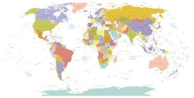 Cuadro Alto detalle Mundial map.Layers utiliza.