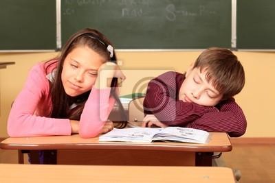 alumnos de dormir