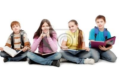alumnos sentados