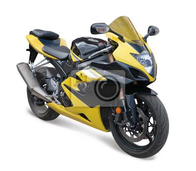 amarilla moto deportiva