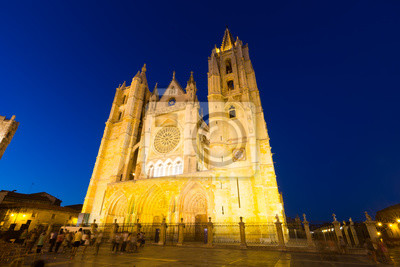 Amplio plano de la Catedral de León