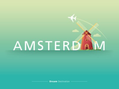 Cuadro Amsterdam tipografía