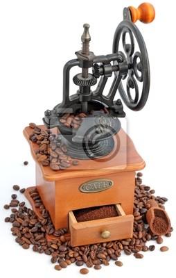ancien moulin à café manuel à engrenages