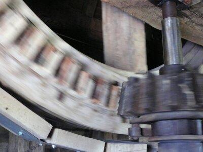 ancien moulin à vent en activité