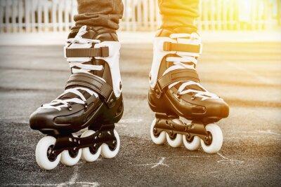 Cuadro andar en patines para el patinaje