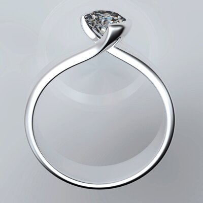 Cuadro Anillo de bodas con el diamante