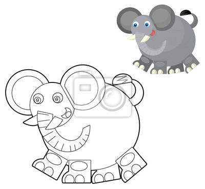 Animal salvaje de la historieta - colorear con vista previa para ...