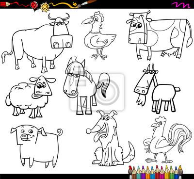 Animales De Granja Para Colorear Juego Bookd Pinturas Para