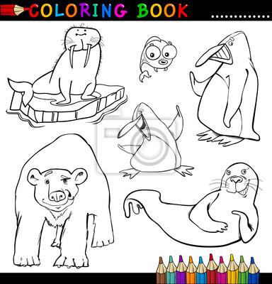 Animales para colorear libro o página pinturas para la pared ...