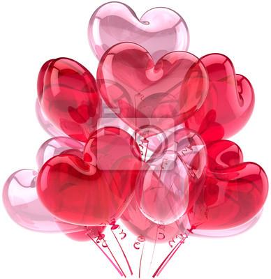 Aniversario de cumpleaños Fiesta de globos de color rosa decoración romántica