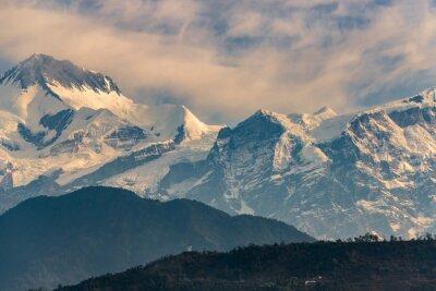 Cuadro Annapurna gama en la salida del sol