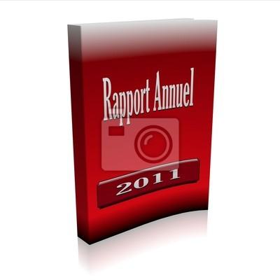 Cuadro annuel rapport rouge 3d