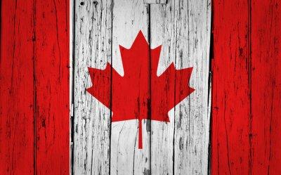 Cuadro Antecedentes Canada Flag Grunge