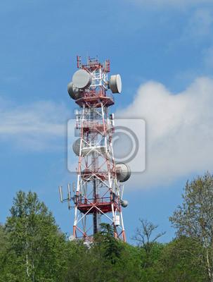 36e935b86b0b2 Cuadro Antena para la transmisión de señales de televisión y de teléfono
