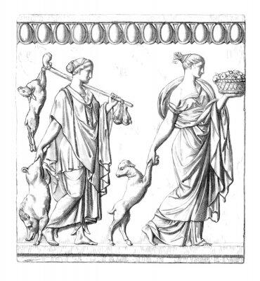 Cuadro Antigüedad: Mujeres romanas
