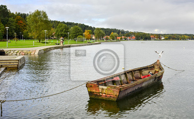 Antiguo barco de pesca, Istmo de Curlandia, Lituania