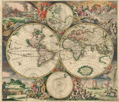 Cuadro Antiguo mapa (1689)