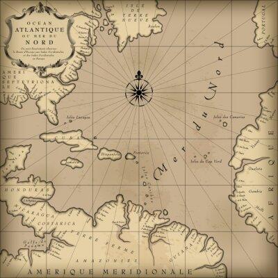 Cuadro Antiguo mapa