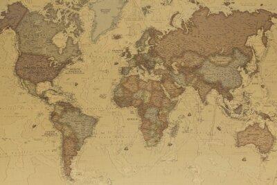 Cuadro Antiguo mapa del mundo