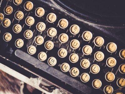 Cuadro Antiguo máquina de escribir Vintage objeto de fondo