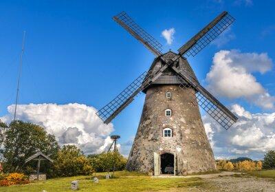 Cuadro Antiguo molino de viento por día de verano