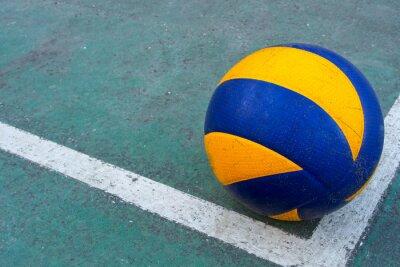 Cuadro Antiguo voleibol en una cancha sucia
