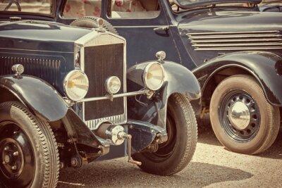 Cuadro Antique cars, vintage process