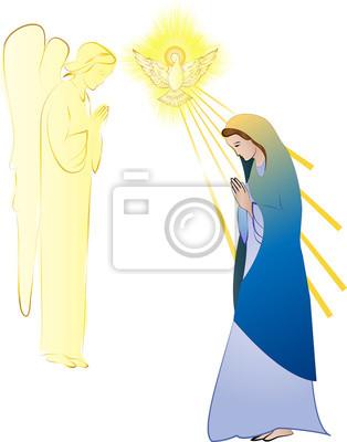 Anuncio A La Santísima Virgen María Concepción Por El Espíritu
