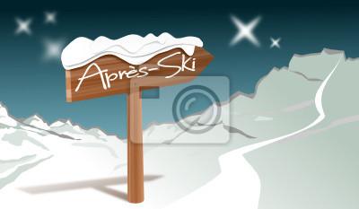 Après-ski con panorama de montaña