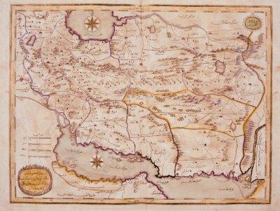 Cuadro Árabe viejo mapa
