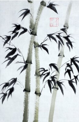 Cuadro Árboles de bambú brillantes
