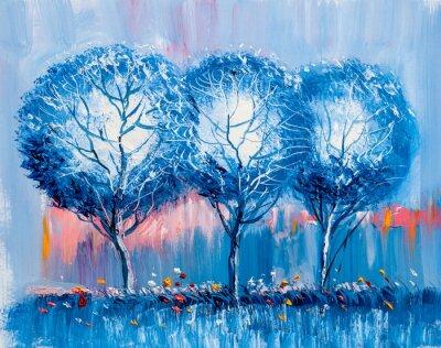 Cuadro Árboles, pintura al óleo, antecedentes artísticos